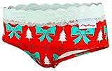 Aqalogy Scrunch Höschen für Frauen aus Premium Authentischer Baumwolle Einem Hauch von Hochwertigem Elastan und Traditioneller Französische Spitze (Actual Women Briefs Unterwäsche Kollektion)