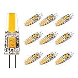 10 Pack G4 2.5W Led Lampe Warmweiß, Lifebee Licht LED Birne 200 LM AC/DC 12V, nicht dimmbar