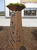 Rost Säule + Schale konisch RS95 + S11'IHR EIGENER NAME' / kostenloser Versand Garten Rostsäulen Blumensäule Deko Rostsäule