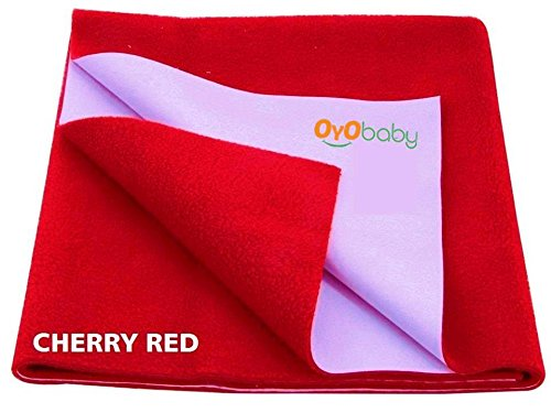 OYO BABY - Quickly Dry Super Soft, Waterproof, Reusable Mat / Underpad / Absorbent Sheets / Mattress Protector (Size: 70cm X 50cm) / (28 inch X 19 inch) Cherry Red,S  available at amazon for Rs.153