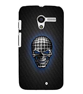 For Motorola Moto X :: Motorola Moto X (1st Gen) XT1052 XT1058 XT1053 XT1056 XT1060 XT1055 check skull, skull, laughing skull, scary face, dangerous face Designer Printed High Quality Smooth Matte Protective Mobile Case Back Pouch Cover by APEX