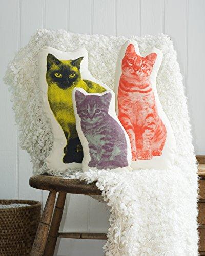Areaware Pico Pillow Kitten Kissen, Stoff, mehrfarbig - 4