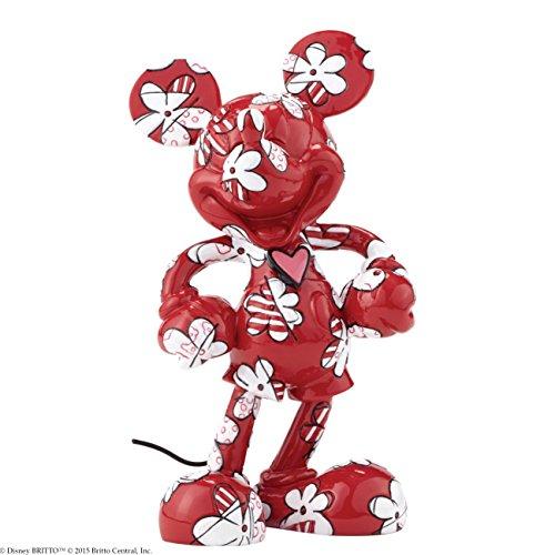 Disney by Romero Britto Mickey Envuelto en Figura de Flores