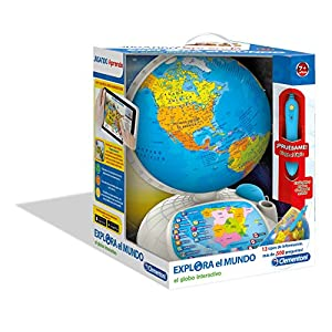 Clementoni – Globo interactivo, tipo Explora el mundo (55117) con Duracell Ultra Power – Pack DE 12 Pilas alcalinas AA