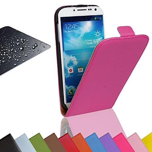 EximMobile - Flip Case Handytasche + Panzerglasfolie für Samsung Galaxy Mega 6.3 | Schutzhülle in Pink | Handyhülle aus Kunstleder Tasche | Cover Etui Hülle mit Panzerglas Schutzfolie Panzerfolie
