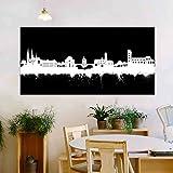 Bamberg Stadt von Kunstbruder Skyline - Wandbild - Schwarz (div. Größen) - Kunst Druck auf Leinwand 80x200cm