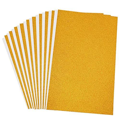20Blatt A4Glitter Karton Papier, 250gms Top Sparkling Silber und Gold Karton für Karte machen, DIY Handwerk und Box Die Verpackung - Gold Glitter Scrapbooking