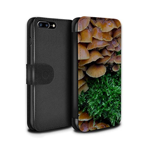 Stuff4 Coque/Etui/Housse Cuir PU Case/Cover pour Apple iPhone 7 Plus / Houx Design / Plantes/Feuilles Collection Champignons