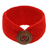 ROSENICE Fascia del bambino maglieria ragazza infantile pulsante fasce testa avvolgere annodato capelli Band(Red)