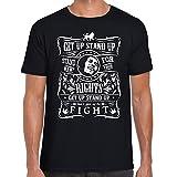 Point of View Shirts BOB Marley Tshirt Get Up Stand up Reggae Tshirt Music Jamaica (Versch Farben Gr. S-XL) (X-Large, Black)