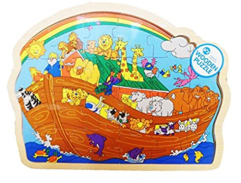 Fun Jigsaw Wooden Puzzle NOAHS ARK Design - Suitable From