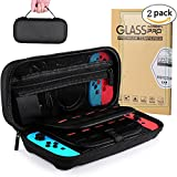 Nintendo Switch Case with 2 Pack H9 Nitendo Switch Screen Protector & 20 Game Cartridges High-capacity, Hard Case for Nintendo Switch Switch, Carrying Case Pro Protective Hard Shell Travel Carrying Case Pouch Compatible With Nintendo Switch Case, Pouch for Nintendo Switch Console & Accessories