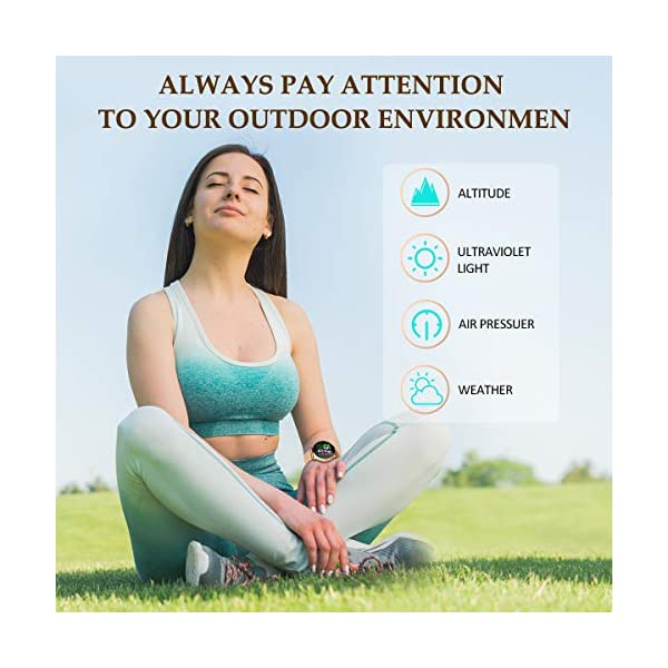 EIVOTOR Smart Watch Sport Fitness Activity Tracker Pulsera Pantalla conectada Touch Podometer Climate Alarm Clock para… 6