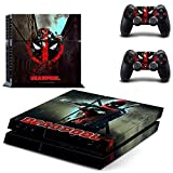 Playstation 4 + 2 Controller Design Sticker Protector Set - Deadpool (1) /PS4