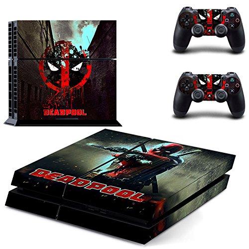 Playstation-4-2-Controller-Aufkleber-Schutzfolie-Set-Deadpool-1-PS4