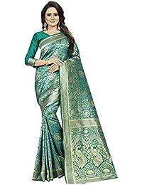Friends Deal Fashion Jacquard Saree (Rama-More-Saree_Rama Green_5.5 Meters)