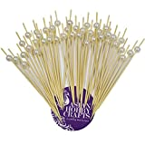 #9: Asian Hobby Crafts Barbecue Skewers Cocktail Sticks Fancy Toothpicks : Pack of 45 : 6 inches