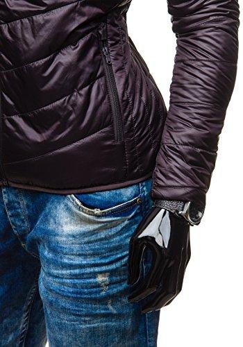 BOLF Herren Übergangsjacke Sweatjacke Jacke Herrenjacke MIX Braun_138