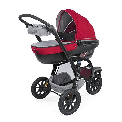 Chicco trio activ3 sistema modulare con kit car, red berry