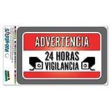 advertencia 24HORAS vigilancia Warnung Überwachung 24Stunden Spanisch Mag-Neato 's-TM Vinyl Magnet Schild