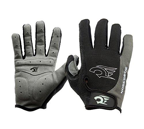 IKuaFly Fahrrad Handschuhe Winter Voll Finger Gel Winddicht Radfahren Handschuh mit Adjustable Klettverschluss für Mountainbike Bike MTB...