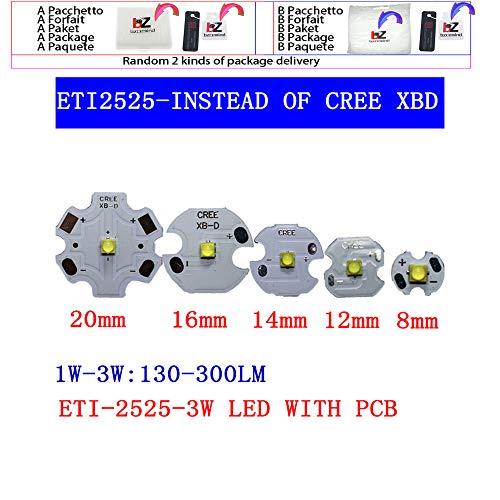10 stücke 3 Watt Nation Star 2525 SMD High Power LED diode Chip licht emitter Kühlen Neutral Weiß Warmweiß anstelle von CREE 2525 XB-D le,warmwhite 3000k,With 8mm pcb
