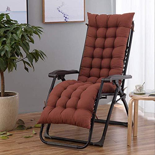 AINIYUE Lounge Chair Kissen, Summer Sun Lounger Matte, Außenterrasse Garten Sitzgelegenheiten im Freien Racking Chair Pad L (48x155cm) Kaffee