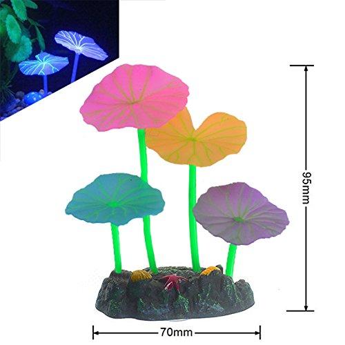 Pflanzen-Dekoration für Aquarium Neon-Glowing Silikon (Neon Fische Pflanzen)