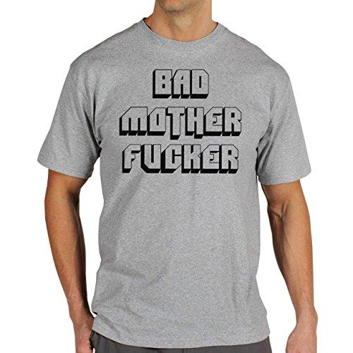 Pulp Fiction Ouentin Tarantino Movie Bad Mother Fucker Classical Background Herren T-Shirt Grau