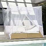 Moustiquaire | Ciel de lit | Protection anti moustiques | Anti mouche | Baldaquin pour lit 2 places 200 x 220 x 200 cm