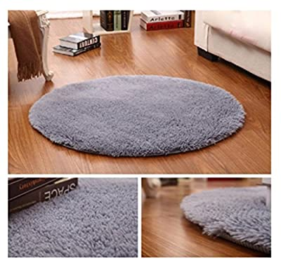 FLORATA Rug Fluffy Rugs Anti-Skid Shaggy Area Rug Multi Colors Carpet Floor Mats Best for Dining Room Home Bedroom Decoration & Baby Child Kids Playing,Pink,40CM