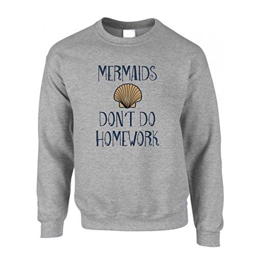 Mermaids Hausaufgaben Kostüm Slogan Schwanz College School nicht tun (College Kostüme Lustig Humor)