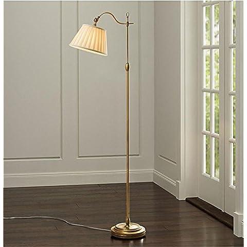 TOYM- Lampada da terra Soggiorno moderno semplice americano studio rurale Camera lampada da terra