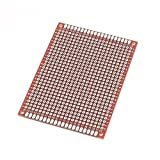 Sourcingmap-Double-Side Solderable prototipo Papel PCB universal Board Rojo 6X 8cm