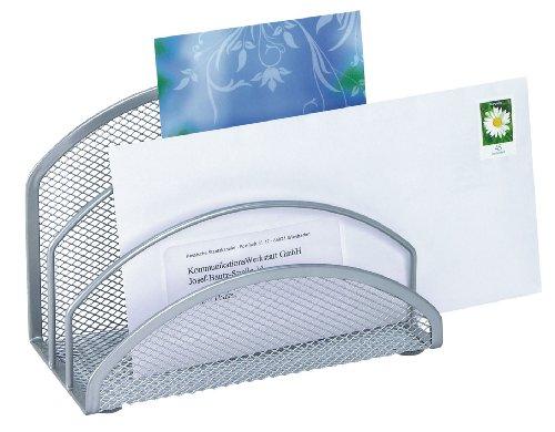 Wedo 65354 Briefständer Office (3 Fächer, Drahtmetall) silber