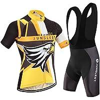 (Cojín 3D)(traje(tirante negro) tamaño:XXXL) sudo corta transpirable para rendimiento ciclismo hombres ropa rompevientos Jerseys los chaleco maillot 2016 manga jerseys de