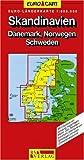 RV Euro-Länderkarte 1:800 000 Skandinavien - Dänemark, Norwegen, Schweden - Collectif