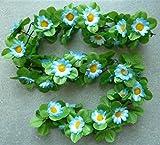 Blumengirlande Sonnenblumen hell blau ~ ca. 120 cm ~ zum verschönern Ihres CBK-MS® Fahrrades oder Ihrer Wohnung