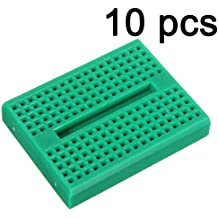 Gaoxing Tech. 10pcs Mini Solderless Prototype Breadboard 170 Tie-points for Arduino Shield Green