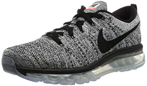 Nike Flyknit Max, Chaussures de Running Entrainement Homme Blanc Cassé - Blanco (Blanco (White/Black))
