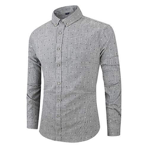 Licht Blau Popeline-hemd (serliyHerren Slim-Fit Hemd aus Baumwoll-Popeline Button-Down-Kragen und Langen Ärmeln Hemd Tailored Business Kent Gestreift)
