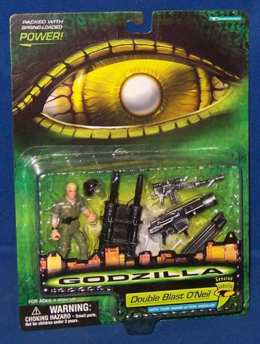 Godzilla - 08566 - 1998 Genuine Godzilla - Double Blast O'Neil - Action Figur - ca. 10 cm - mit Twin-Rocket Launcher - OVP