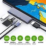 RayCue Hub C USB, Adaptateur HDMI Type C à 4K USB 6 en 1 avec Port USB 3.0,...