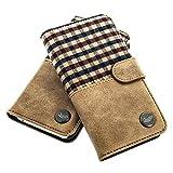 QIOTTI - iPhone 6s iPhone 6 Tasche Leder Case I Ledertasche Kartenfach Echtleder Hülle Lederhülle Ledercase Handyhülle Echtledertasche (Scotland)