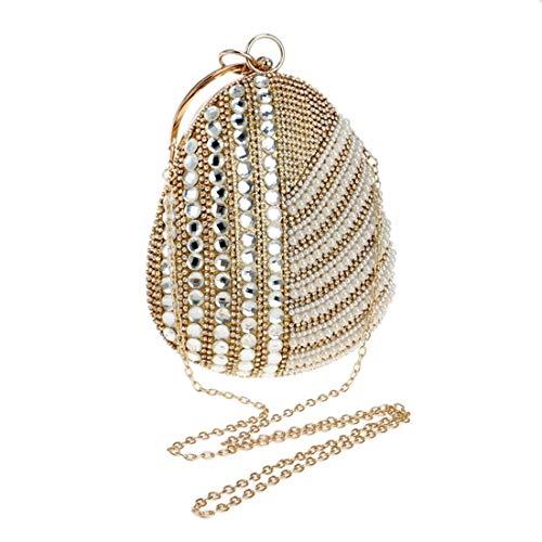 Xinqing Damen Abend Clutch, Diamond Tote, Damentasche, 31 * 15 * 7 cm (Farbe: Gold) du verdienst es zu haben (Color : Gold) (Tote 31 Kühler)