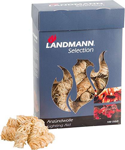 Landmann Anzündmaterial auf Basis von Holzwolle aus ökologischer Holzgewinnung