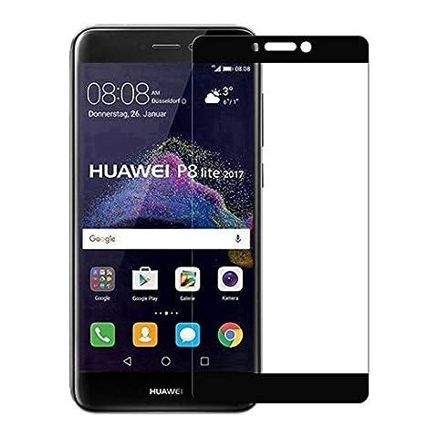[2 Pack]Verre Trempé Film Protection Pour Huawei P8 lite 2017,Electro-Weideworld 3D Curved Verre Trempé Protecteur Tempered Glass Screen Protector pour Huawei P8 lite
