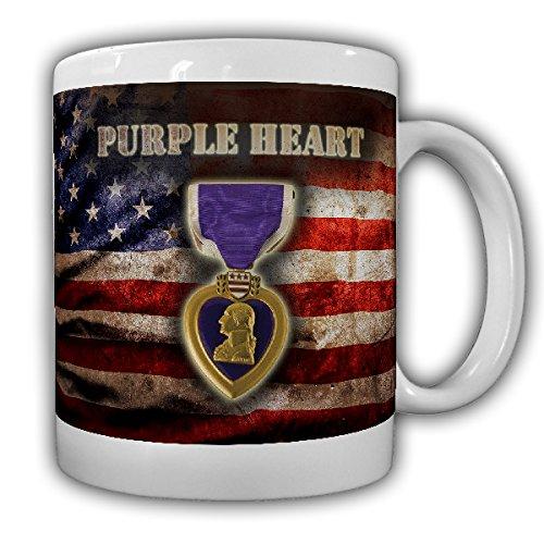 Purple Star Orden US Army Veteran verwundete Soldaten Krieg War George Washington Norman Schwarzkopf- Tasse Kaffee Becher #15850