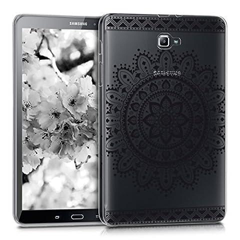 kwmobile Hülle für Samsung Galaxy Tab A 10.1 (2016) - Case Handy Schutzhülle TPU Silikon für Tablet - Backcover Cover klar Schwarz