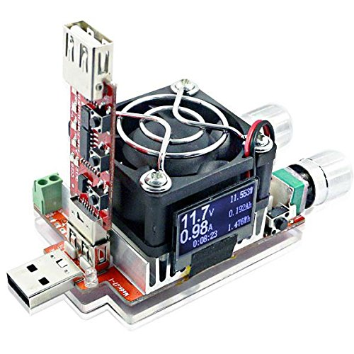 TuToy 35W Constant Current Double Adjustable Electronic Load + Qc2.0/3.0 Trigger Quick Voltage Usb Tester Voltmeter Aging Discharge